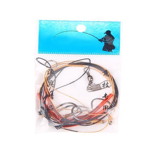 Oiko Store  SEAPESCA High Carbon Steel String Hook with 5 Small Hook Rigs Swivel Fishing Tackle Lures Bait Pesca Fishhooks ZB445