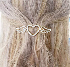Oiko Store  Silver-771 Hair Clip For Women Scissors Diamond Round Moon Leaf Unicorn Heart Simple Golden Silver Girl Fashion Gift Charm