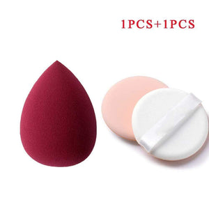 Oiko Store  Sky Blue Makeup Sponge Professional Cosmetic Puff For Foundation Concealer Cream Make Up Blender Soft Water Sponge Wholesale p34