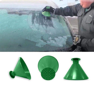Oiko Store  Snow shovels Car Magic Window Windshield Car Ice Scraper Shaped Funnel Snow Remover Deicer Cone Deicing Tool Scraping #1008