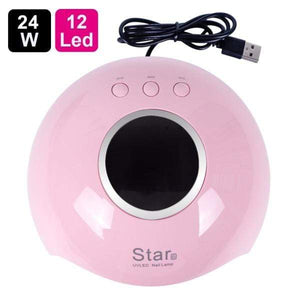Oiko Store  Star6 Pink UV Lamp For Manicure LED Nail Dryer Lamp Sun Light Curing All Gel Polish Drying UV Gel USB Smart Timing Nail Art Tools LASTAR6
