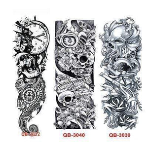 Oiko Store Style 2 3Pcs Temporary Tattoo Sleeve Waterproof Tattoos