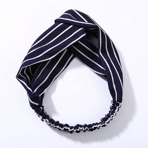 Oiko Store  style 2 navy blue Women Spring Autumn Suede Headband Vintage Cross Knot Elastic Hair Bands Soft Solid Girls Hairband Hair Accessories