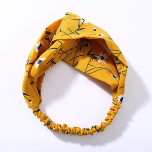 Oiko Store  style 2 yellow Women Spring Autumn Suede Headband Vintage Cross Knot Elastic Hair Bands Soft Solid Girls Hairband Hair Accessories