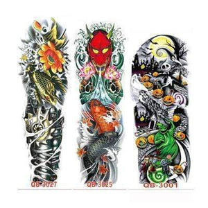 Oiko Store Style 4 3Pcs Temporary Tattoo Sleeve Waterproof Tattoos