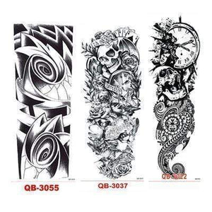 Oiko Store Style 5 3Pcs Temporary Tattoo Sleeve Waterproof Tattoos