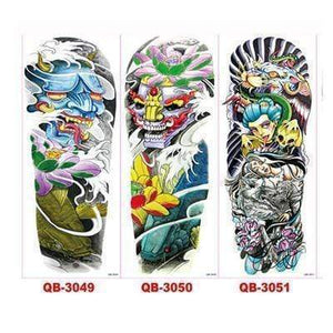 Oiko Store Style 6 3Pcs Temporary Tattoo Sleeve Waterproof Tattoos
