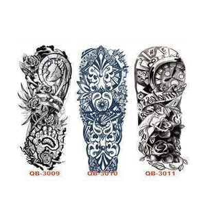 Oiko Store Style 7 3Pcs Temporary Tattoo Sleeve Waterproof Tattoos
