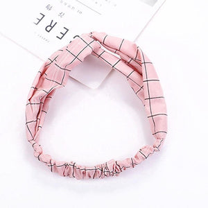 Oiko Store  style 7 pink Women Spring Autumn Suede Headband Vintage Cross Knot Elastic Hair Bands Soft Solid Girls Hairband Hair Accessories