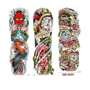 Oiko Store Style 8 3Pcs Temporary Tattoo Sleeve Waterproof Tattoos