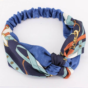 Oiko Store  style 8 blue Women Spring Autumn Suede Headband Vintage Cross Knot Elastic Hair Bands Soft Solid Girls Hairband Hair Accessories