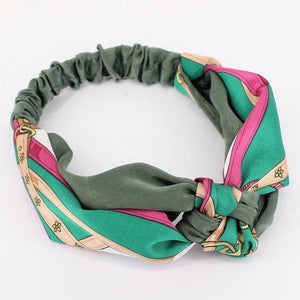 Oiko Store  style 8 green Women Spring Autumn Suede Headband Vintage Cross Knot Elastic Hair Bands Soft Solid Girls Hairband Hair Accessories