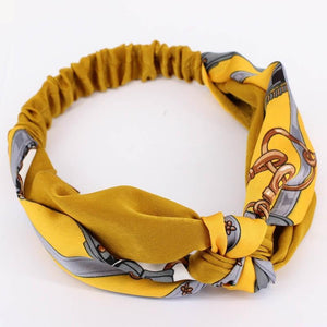Oiko Store  style 8 yellow Women Spring Autumn Suede Headband Vintage Cross Knot Elastic Hair Bands Soft Solid Girls Hairband Hair Accessories