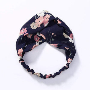 Oiko Store  style 9 navy blue Women Spring Autumn Suede Headband Vintage Cross Knot Elastic Hair Bands Soft Solid Girls Hairband Hair Accessories