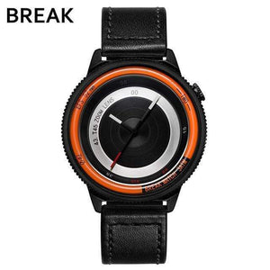 Oiko Store  T45-LBK-OR BREAK Top Luxury Brand Men Women Unique Creative lovers Watches Casual Fashion Quartz Sport WristWatch Stainless Steel Strap