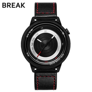 Oiko Store  T45-LRD-BK BREAK Top Luxury Brand Men Women Unique Creative lovers Watches Casual Fashion Quartz Sport WristWatch Stainless Steel Strap