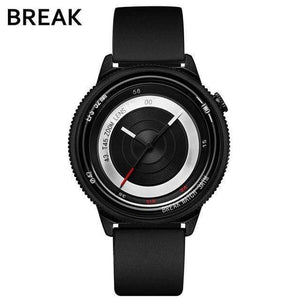 Oiko Store  T45-RUB-BK BREAK Top Luxury Brand Men Women Unique Creative lovers Watches Casual Fashion Quartz Sport WristWatch Stainless Steel Strap