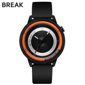 Oiko Store  T45-RUB-OR BREAK Top Luxury Brand Men Women Unique Creative lovers Watches Casual Fashion Quartz Sport WristWatch Stainless Steel Strap