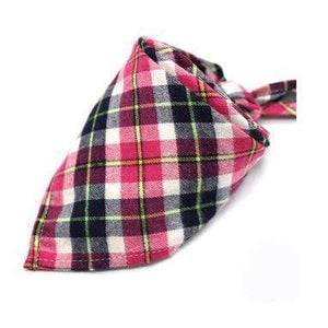 Oiko Store  the same the picture 10 / M Dog Bandana Cotton Plaid Washable Winter Pet Dog Bandanas Scarf Bow ties Collar Cat Small Middle Large Dog Grooming Products