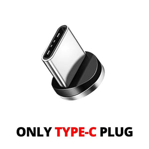 Oiko Store  Type C Plug No Wire / 1m ANMONE Magnetic Cable Micro USB Type C Magnetic Charge Charger Cable for iPhone Huawei Samsung Android Mobile Phone 2m cable