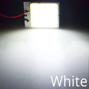 Oiko Store  White / 16Led White Red Blue T10 W5w Cob 24SMD 36SMD Car Led Vehicle Panel Lamp Auto Interior Reading Lamp Bulb Light Dome Festoon BA9S DC 12v