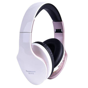 Oiko Store  White New Wireless Headphones Bluetooth Headset Foldable Stereo Headphone Gaming Earphones With Microphone For PC Mobile phone Mp3