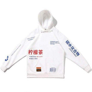 Oiko Store  White / S China style Sweatshirts hooded hoodies Hip Hop Skateboard letters print Beige drawstring Autumn Winter Pullover hoody free ship