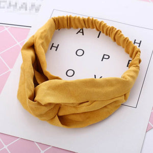 Oiko Store  Women Spring Autumn Suede Headband Vintage Cross Knot Elastic Hair Bands Soft Solid Girls Hairband Hair Accessories
