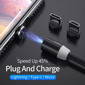 Oiko Store  YKZ Magnetic USB Cable for Huawei Samsung Type C Type-C Charging USB C Magnet Cable Micro USB Mobile Phone Cord Wire for iPhone