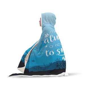 wc-fulfillment Hooded Blanket Awesome Dolphin Hooded Blanket