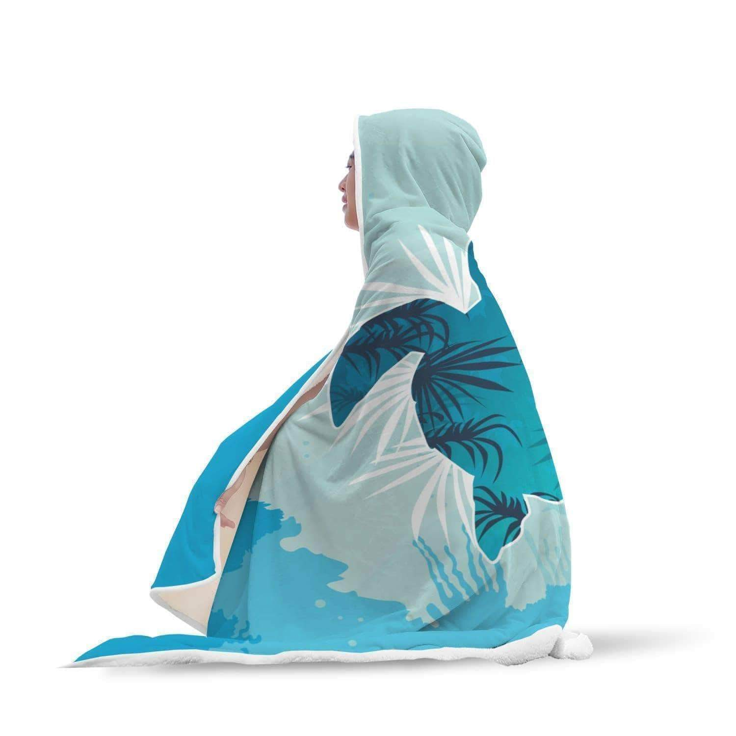 Awesome Cool Sea Turtle Hooded Blanket