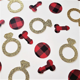 Flannel Fling Penis and Ring Confetti