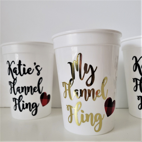 Personalized Flannel Fling Party Cups