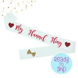 Flannel Fling Bride to Be Sash with Flannel Hearts