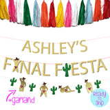 Personalized Final Fiesta Bachelorette Party Stripper and Cactus Banner