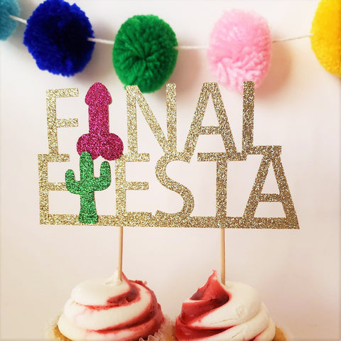 Final Fiesta Bachelorette Party Penis Cake Topper