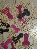 Penis Party Confetti Dicks & Diamonds Confetti- Bachelorette Party, Hen Party, Penis Party, Same Penis Forever Decor, Penis Confetti, Gold