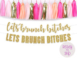 Let's Brunch Bitches Party Banner, Bachelorette Party, Hen Party, Dirty Thirty Party Decor, Brunch Decorations