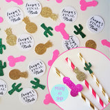 Final Fiesta Bachelorette Party Banner Male Stripper Sombrero and Cactus Banner