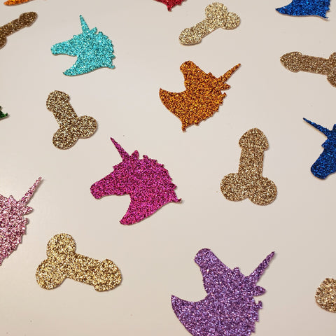 Unicorn and Penis Confetti