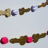 Bachelorette Party Glitter Penis Garland, 5'