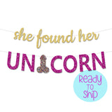 She Found Her Unicorn Bachelorette Party Penis Banner
