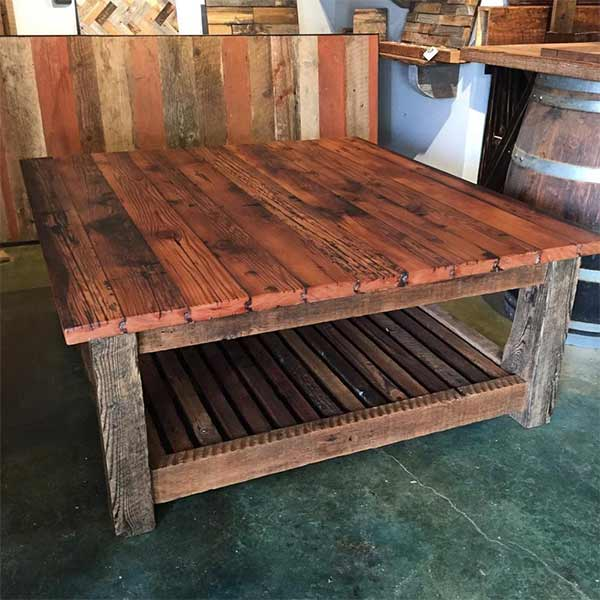 Grain Silo Tongue & Groove Table top w/ Base