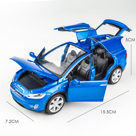 Tesla Toy Car Blue Model X RC City