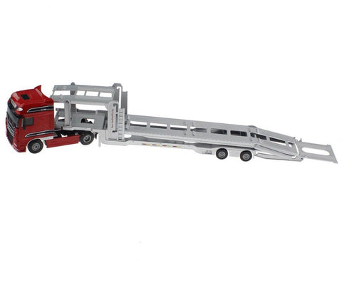 red truck double deck shipper