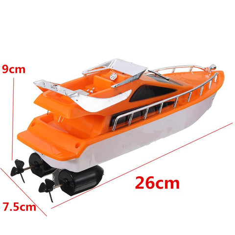 Orange Boat Dimenions RC Toy