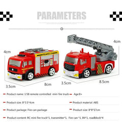 Remote Control RED Cross Rescue Fire Truck