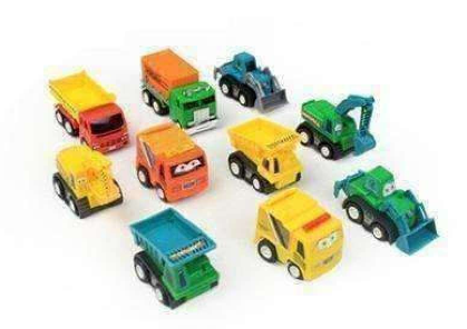 10 pc.Toy Tractor Set