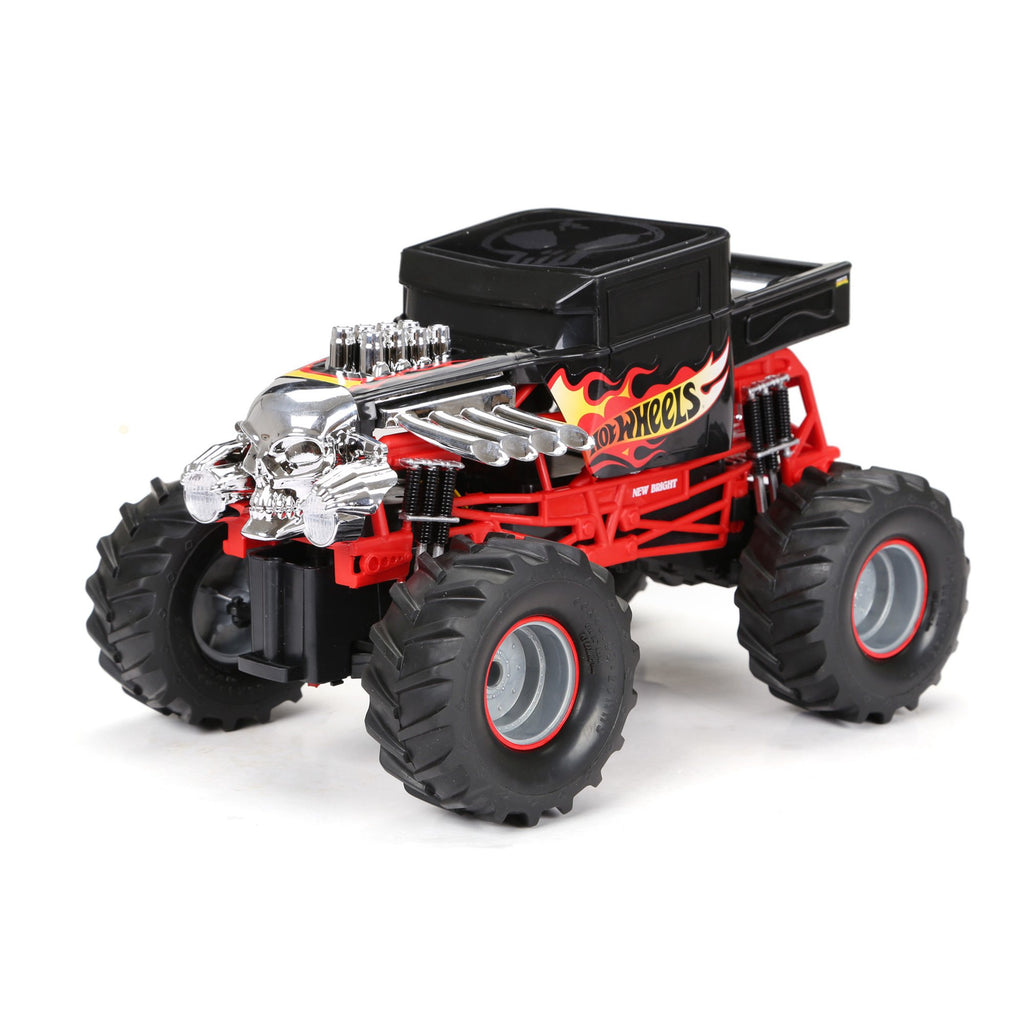 New Bright 1:14 Scale Radio Controlled Hot Wheels Bone Shaker Monster Truck 2.4GHz