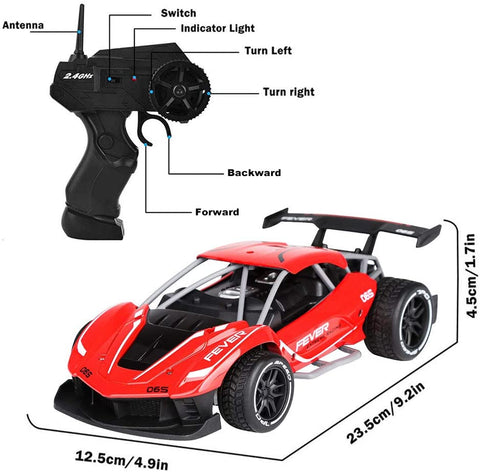 Image of SZJJX Remote Control Car for 4-12 Years Old Boys, 1/16 Fast Electric RC Racing Cars 2.4GHz 15KM/H High Speed Race Car Off Road RC Drift Car Vehicle Toys for Kids Gift
